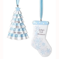 Blue Baby's First Tree And Stocking (2 Designs) - 10cm (132824)