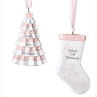 Pink Baby's First Tree And Stocking (2 Designs)