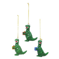 Dino With Present Hanging Decoration (3 Colours)