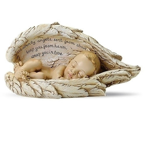 Baby In Angel Wings Table Top Ornament