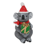 Aussie Koala Christmas Figurine with Present
