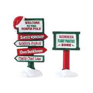 Lemax North Pole Signs - Set of 2