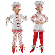 RAZ Kringle Candy Christmas Posable Elf (2 Designs)