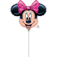 Mini Shape Minnie Mouse Foil Balloon