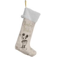 Mickey Mouse Collection Velvet  Christmas Stocking - 62cm