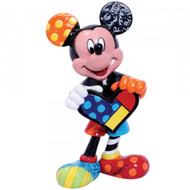 Mini Figurine Mickey Holding Heart