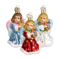 Angel With Lyre Glass Ornament (3 Styles)