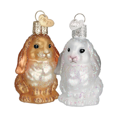Baby Bunny Glass Ornament (2 Styles)