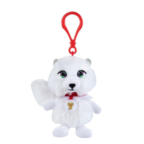 Plushie Pal Arctic Fox with Clip