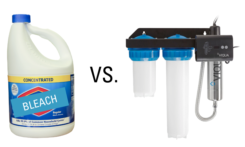 chemical well shock vs UV water disinfection system
