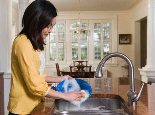 Wash dishes with whole home reverse osmosis filtered water