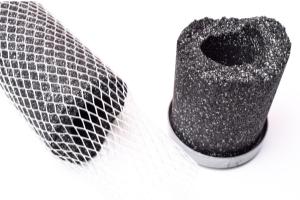 inside a carbon filter