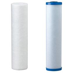 polyspun sediment filter and carbon blocck filter