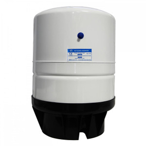 PAE PAE Steel 14 Gallon 9 Gal Capacity RO Water Storage Pressure Tank - White 3/4 Male Threads TKE-1070-W-3/4 TKE-1070-W-3/4