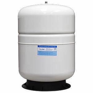 PAE PAE 9.2 Gallon 5.5 Gal Capacity Steel RO Water Storage Pressure Tank - White 1/4 Male Threads TKE-TP35 TKE-TP35