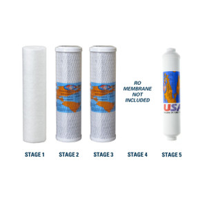 1-Year Filter Replacement Kit for Goldline 50 Reverse Osmosis System RO Membrane Sold Separately YS-GL50