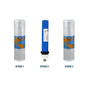 1-Year Replacement Filter Kit with Membrane for RainSoft UF50 Reverse Osmosis System YSM-RSUF50