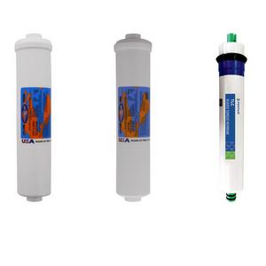 Vertex Reverse Osmosis Filter Replacement Annual Kit with RO Membrane for PWC-400 PWC-500 PWC-600 PWC-1000 PWC-1010 PWC-1500 PWC-1800 PWC-2000 YSM-VERPWC