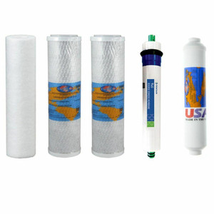 Ultima VII Compatible RO Replacement Filter Bundle for Drinking Water Reverse Osmosis Filtration System YSM-ULTIMAVII