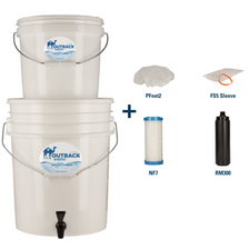 Outback Outback Portable Emergency Water Filtration Bundle OB-25NF Gravity Filter Extra Replacements For Off-Grid Family Survival; Can Remove 99.99percent Bacteria and Virus OB-25NF-B