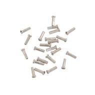 14g Brass Spoke Nipples - Silver