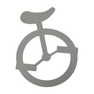 "Unicycle Sticker - 4"""