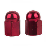 Trik Topz Valve Caps Alloy Red