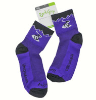 Unicycle.com Logo Socks Purple