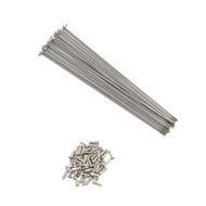 """Stainless Steel (silver) 14g Spoke for 36"""" Unicycles - 355mm"""