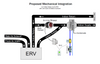 This diagram shows how the DEH-2 might be integrated with a home's ERV and over-sized ducting.