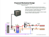 Here is an example of how a typical DX2W-EX piping diagram looks like.  In this case an electric backup boiler is used and the manifold is designed to allow for a mix of radiant and forced air heating and cooling.  We can provide piping diagrams at no additional charge for your project.