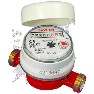Potable Hot Water Meter (shown without pulse emitter or union tail pieces)