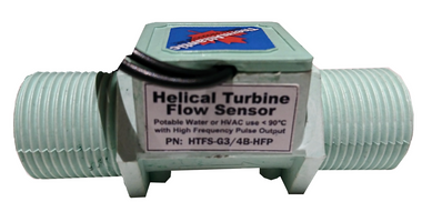 Helical Turbine Flow Sensor with high frequency pulse output