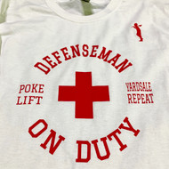 "Stinson Mellor Lacrosse Co. ""Defenseman on Duty"" Long Sleeve Tee"