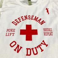 "Stinson Mellor Lacrosse Co. ""Defenseman on Duty"" Long Sleeve Tee"