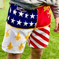 Limited Edition Stinson Mellor Lacrosse Co. Boy's/Men's Detroit City Flag Shorts