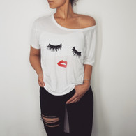 Lashes and Lips Relaxed Slouchy Tee