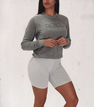 Signature Unisex 'REBEL' Grey Crew Neck Sweatshirt