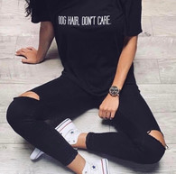 'Dog Hair Don't Care' Slouchy Tee
