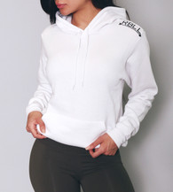 RBLL White Shoulder Logo Pullover Hoodie