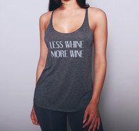 'Less Whine More Wine' Relaxed Tank