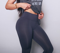 "RBLL Signature ""Hourglass"" Legging in Charcoal Grey"
