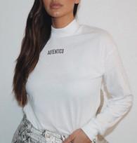 ' Autentico ' Unisex Mock Neck Long Sleeve Tee T-shirt