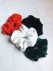 Velour Scrunchie - 4 colors