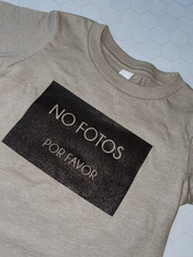 NO FOTOS POR FAVOR Baby/Toddler T-shirt