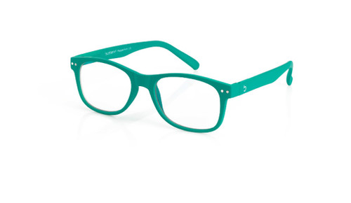 Blue Light glasses L clasic Peppermint, dark green by the side, glasses for blue light glasses by Blueberry