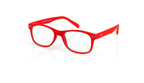 Blue Light glasses L Strawberry, red by the side, glasses for blue light by Blueberry