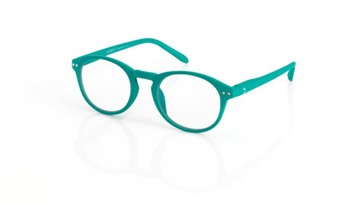 Blue Light glasses M Peppermint, dark green, by the side, glasses for blue light by Blueberry