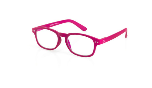 Blue Light glasses S Plum, pink by the side, glasses for blue light by Blueberry