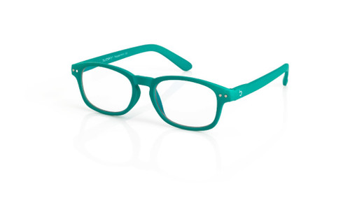 Blue Light glasses S Peppermint, dark green by the side, glasses for blue light by Blueberry